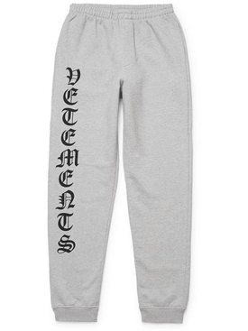 Gothic logo drawstring sweatpants GREY