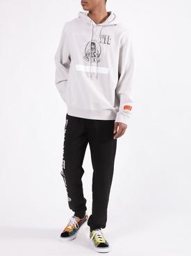 Gothic print jogger BLACK