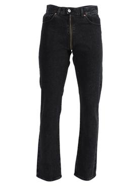 Contrasting Crotch Zipper Jeans