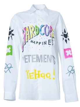 Vetements - Hardcore Happiness Logo Shirt - Women