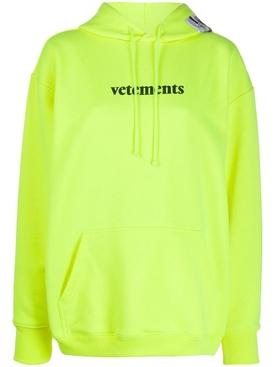 Neon Yellow Logo Hoodie
