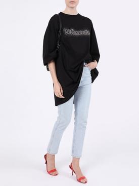 Embellished logo t-shirt black