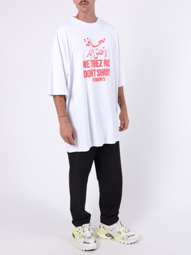 red logo t-shirt WHITE
