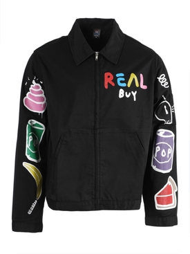 Black Multicolored Gas jacket