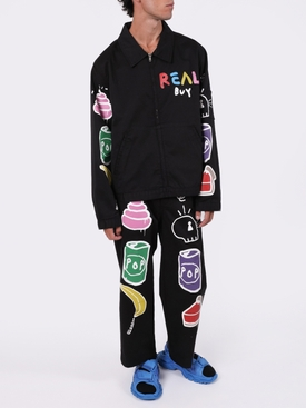 Black Multicolored Work pant