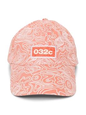 Topos Print Logo Cap, Ex Neon Coral