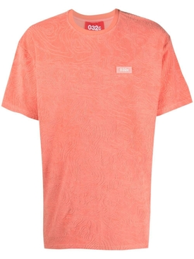 Topos Shaved Terry T-Shirt, Ex Neon Coral