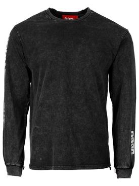 Acid Washed Longsleeve t-shirt black
