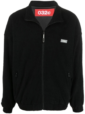 Topos Shaved Terry Jacket, Black