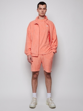 Topos Shaved Terry Jacket, Neon Coral