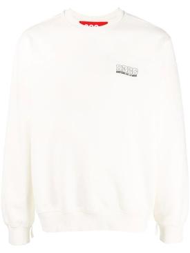Glow in the Dark Crewneck Sweatshirt, white