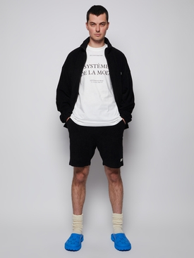 Topos Shaved Terry Shorts, Black