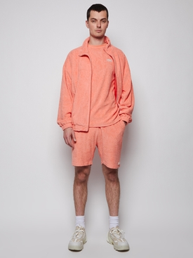 Topos Shaved Terry Shorts, Ex neon coral