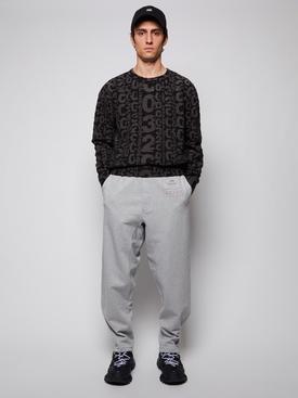 Allover Logo Knit Pullover black