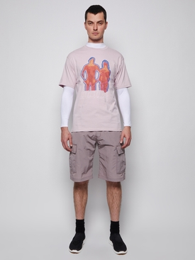 Heat Patch Nylon Cargo Shorts Grey