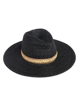 JEANNE BLACK STRAW HAT