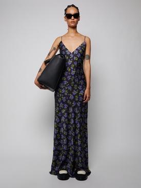 Maxi Floral Print Slip Dress