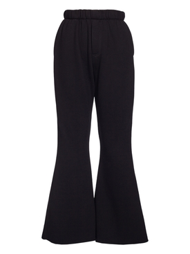 Black Flared Heart Pant