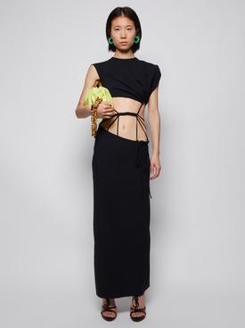 Braded torso tee dress black