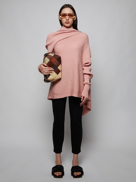 Draped knit sweater PINK