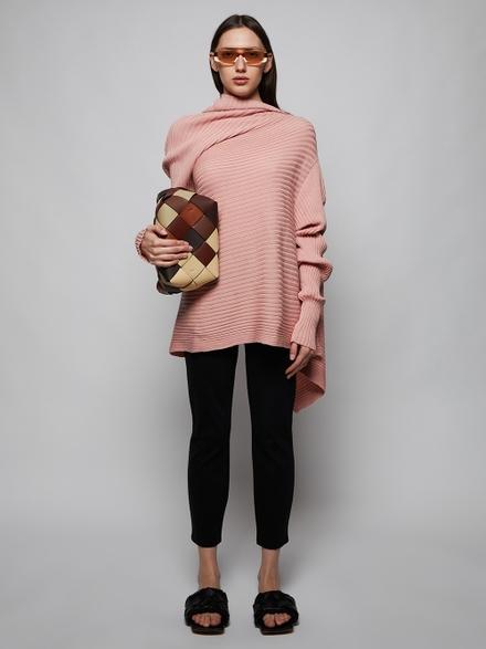 Marques' Almeida Draped Knit Sweater Pink