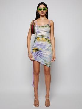 Sequined Tie-Dye Mini Dress