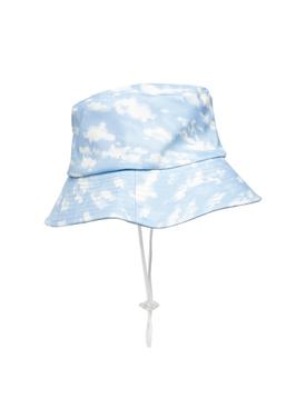 CLOUD PRINT BUCKET HAT LIGHT BLUE