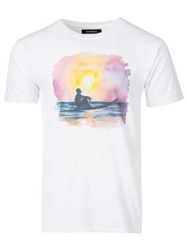 Sunset Surfer Tee White