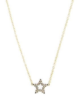 Diamond Star Charm Necklace