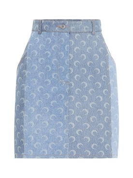 MOONED UPCYCLED DENIM SKIRT