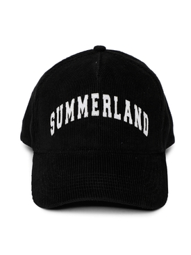 SUMMERLAND CORDUROY HAT, BLACK