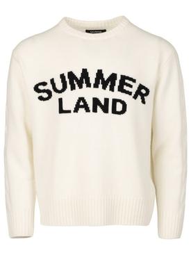 Summerland Cashmere Knit Sweater Ivory