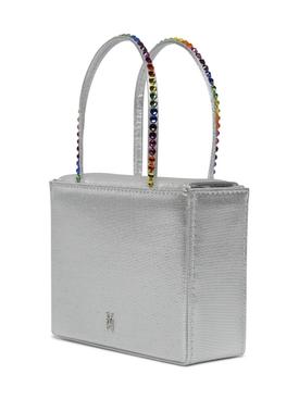 Super Amini Gilda Crystal-Trimmed Bag SILVER