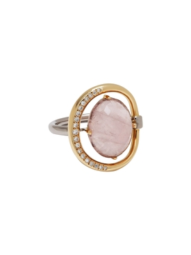 18kt Gold Pink Gemstone Ring