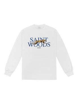 White Speed Long Sleeve T-Shirt, White