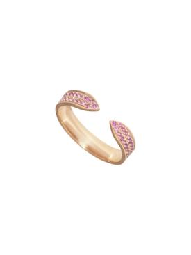 Rose Gold Pink Sapphire PavŽ Ring