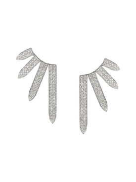 White gold PavŽ Diamond Sacred Windows Earrings
