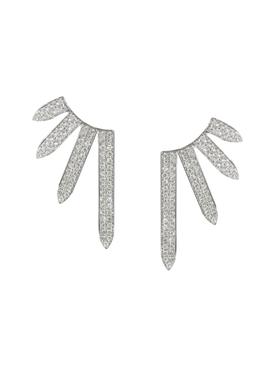 White gold PavŽ Diamond Sacred Windows Earrings