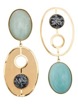 Sonia blue chalcedony earrings