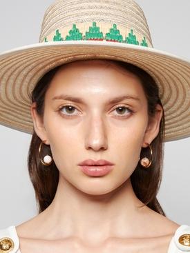 Sonia pink resin hoop earrings