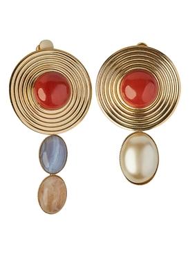 Sonia red agate earrings