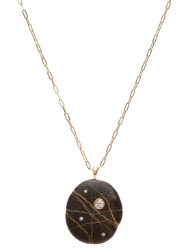 Space 18k Gold and Stone Necklace