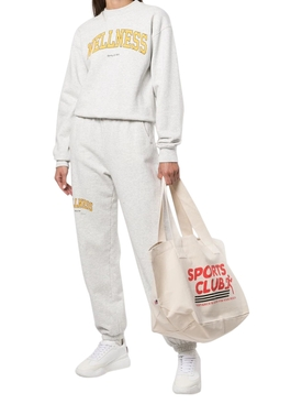 Sports Club Tote Bag Natural White