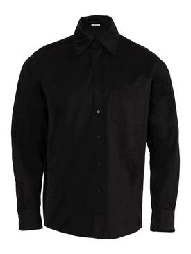 Tonal logo print shirt BLACK