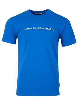 I CAME TO BREAK HEARTS T-SHIRT BLUE