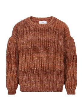 Oversized terracotta sweater