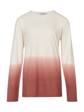 Recycled cotton long sleeve dip dye t-shirt