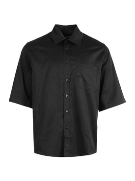 Classic tonal print shirt, Black