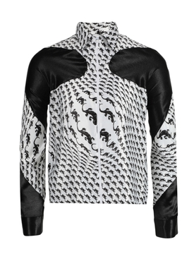 Lizard print zipped jacket