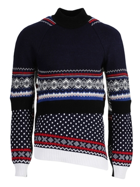 Regenerated wool knit sweater